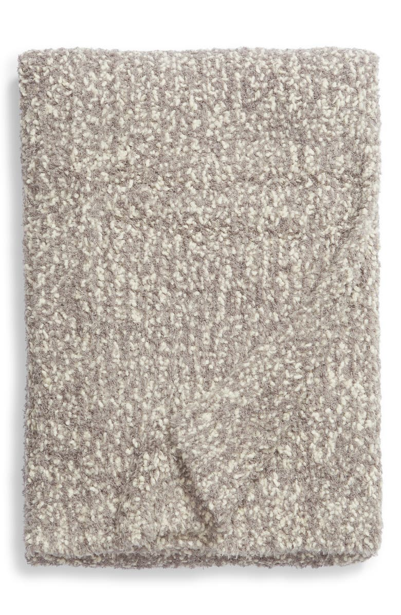 BAREFOOT DREAMS<SUP>®</SUP> Chunky Bouclé Knit Throw Blanket, Main, color, BEACH ROCK/ CREAM