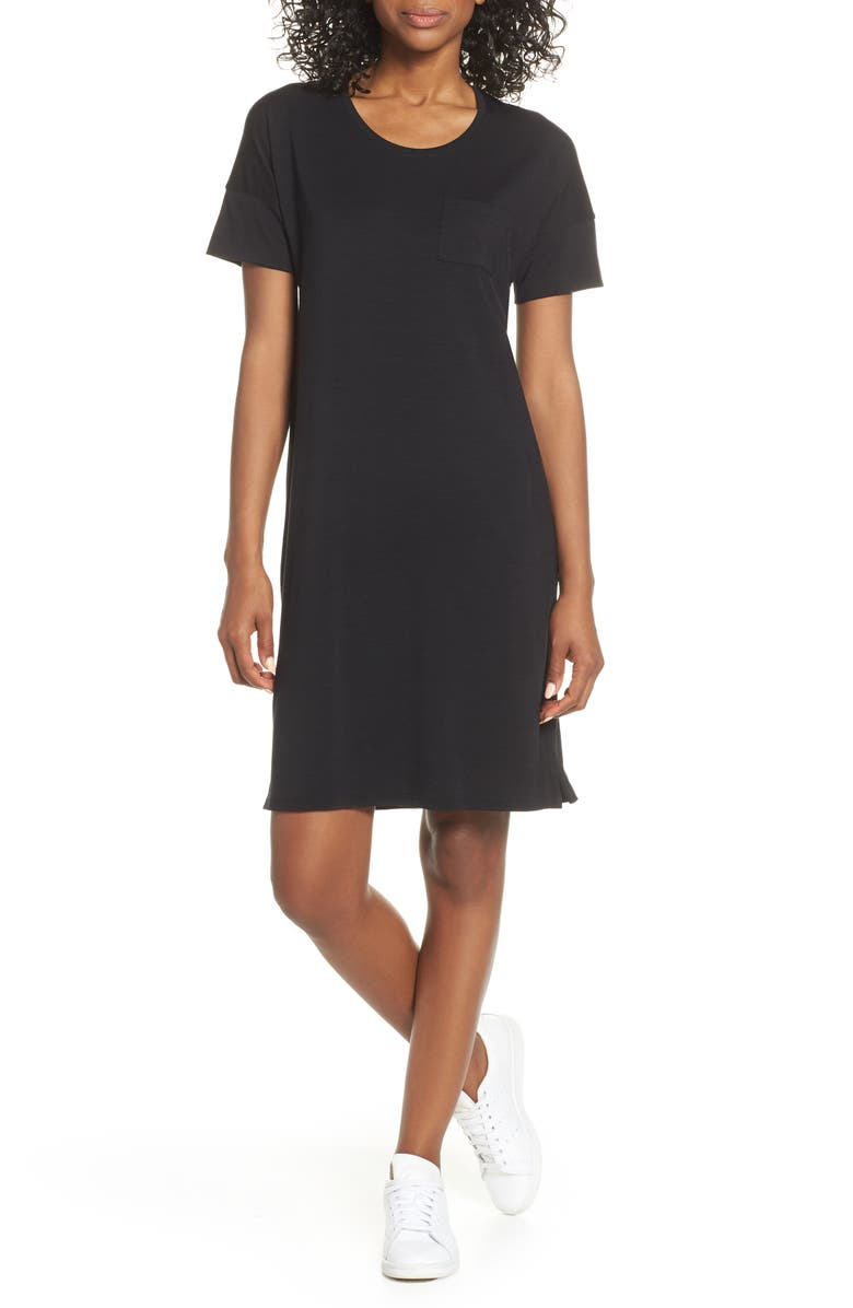 ICEBREAKER Yanni Cool-Lite<sup>™</sup> T-Shirt Dress, Main, color, BLACK