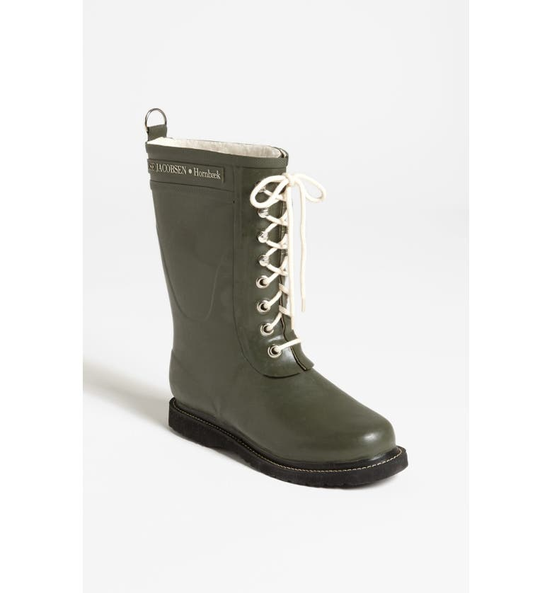 ILSE JACOBSEN Rubber Waterproof Boot, Main, color, ARMY