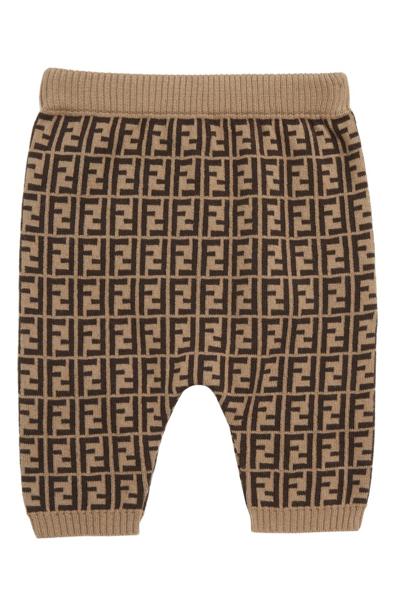 FENDI Logo Sweater Knit Pants, Main, color, 201