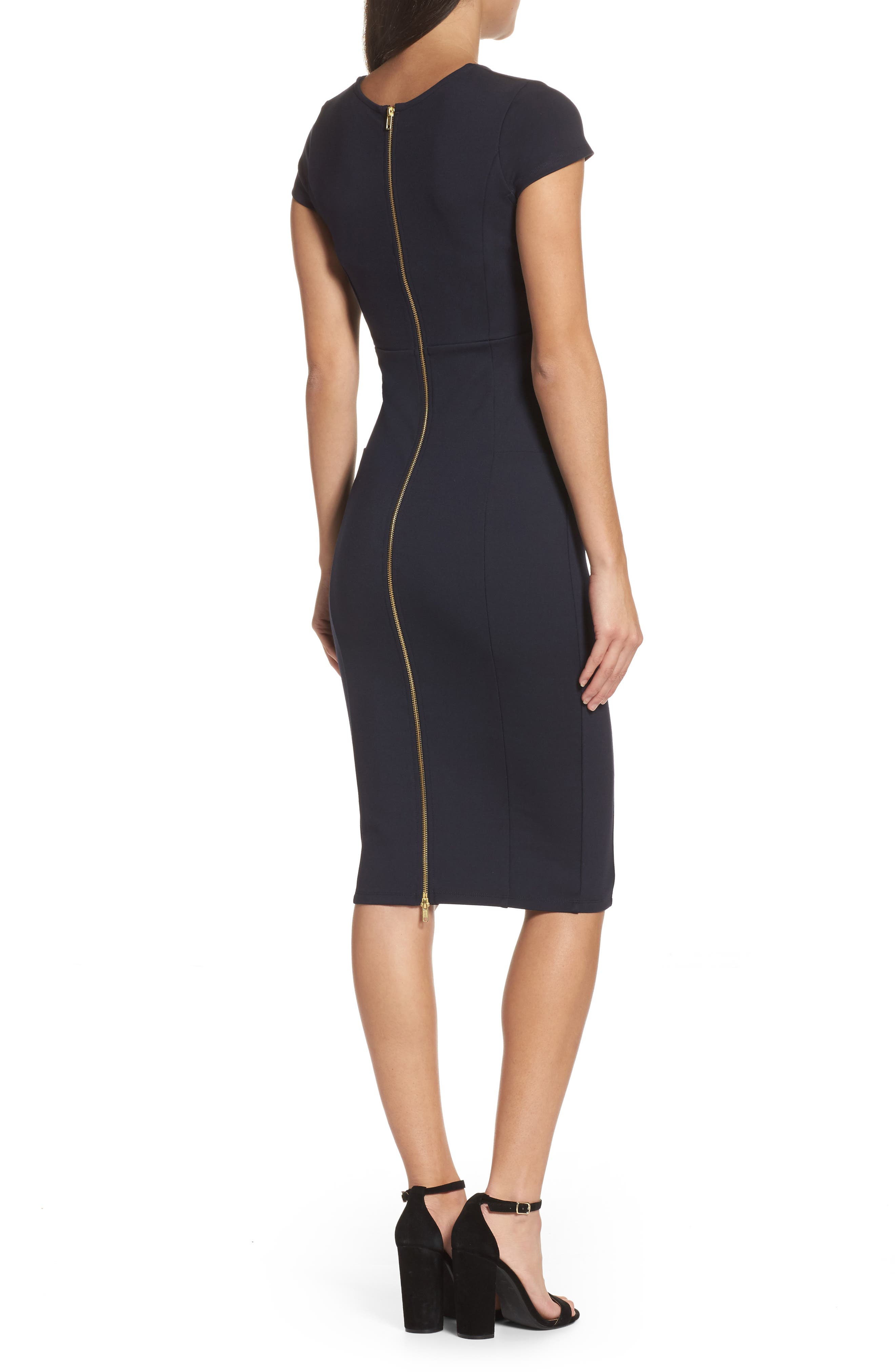 ,                             Ward Seamed Pencil Dress,                             Alternate thumbnail 11, color,                             400