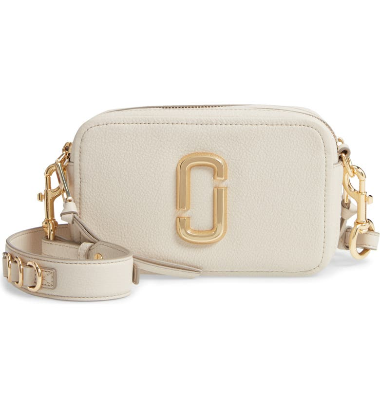 THE MARC JACOBS The Softshot 21 Crossbody Bag, Main, color, CREAM