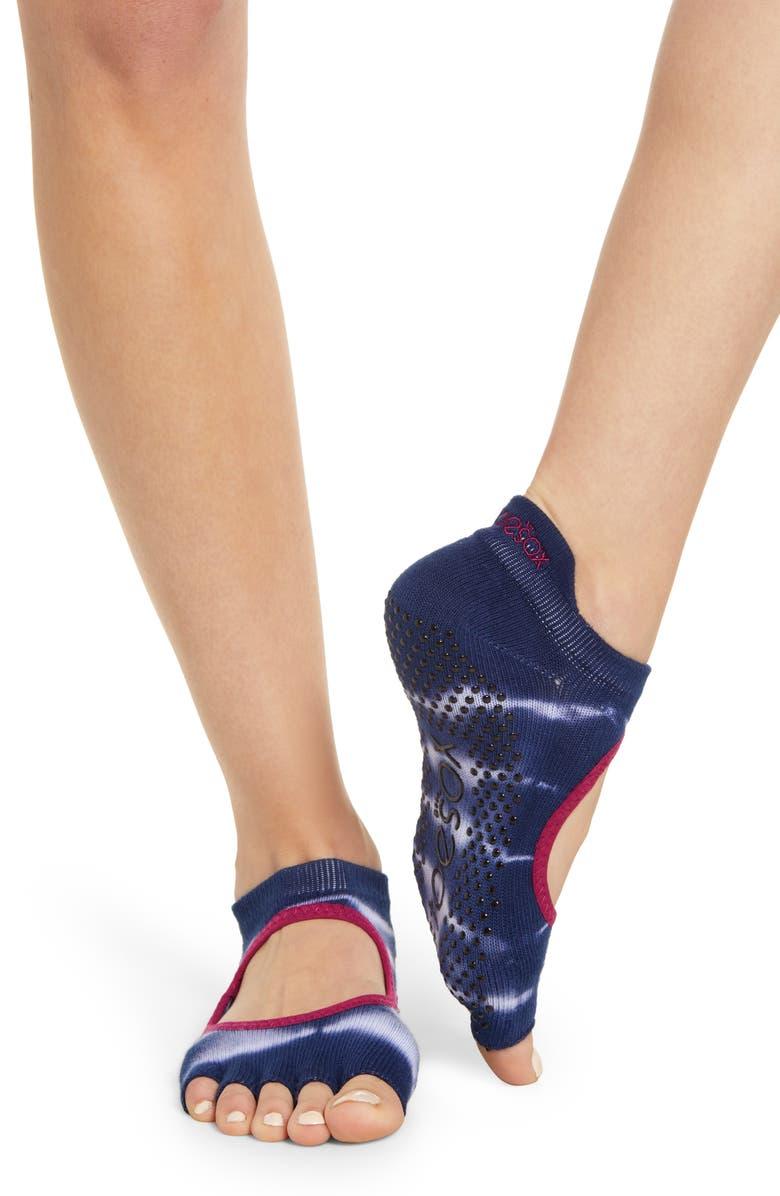 TOESOX Bellarina Cosmic Half Toe Gripper Socks, Main, color, COSMIC