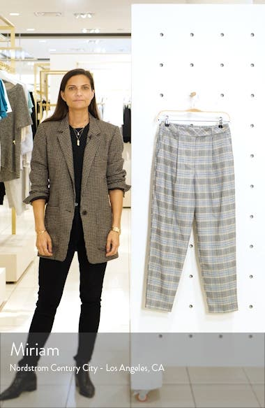 High Waist Tapered Plaid Trousers, sales video thumbnail