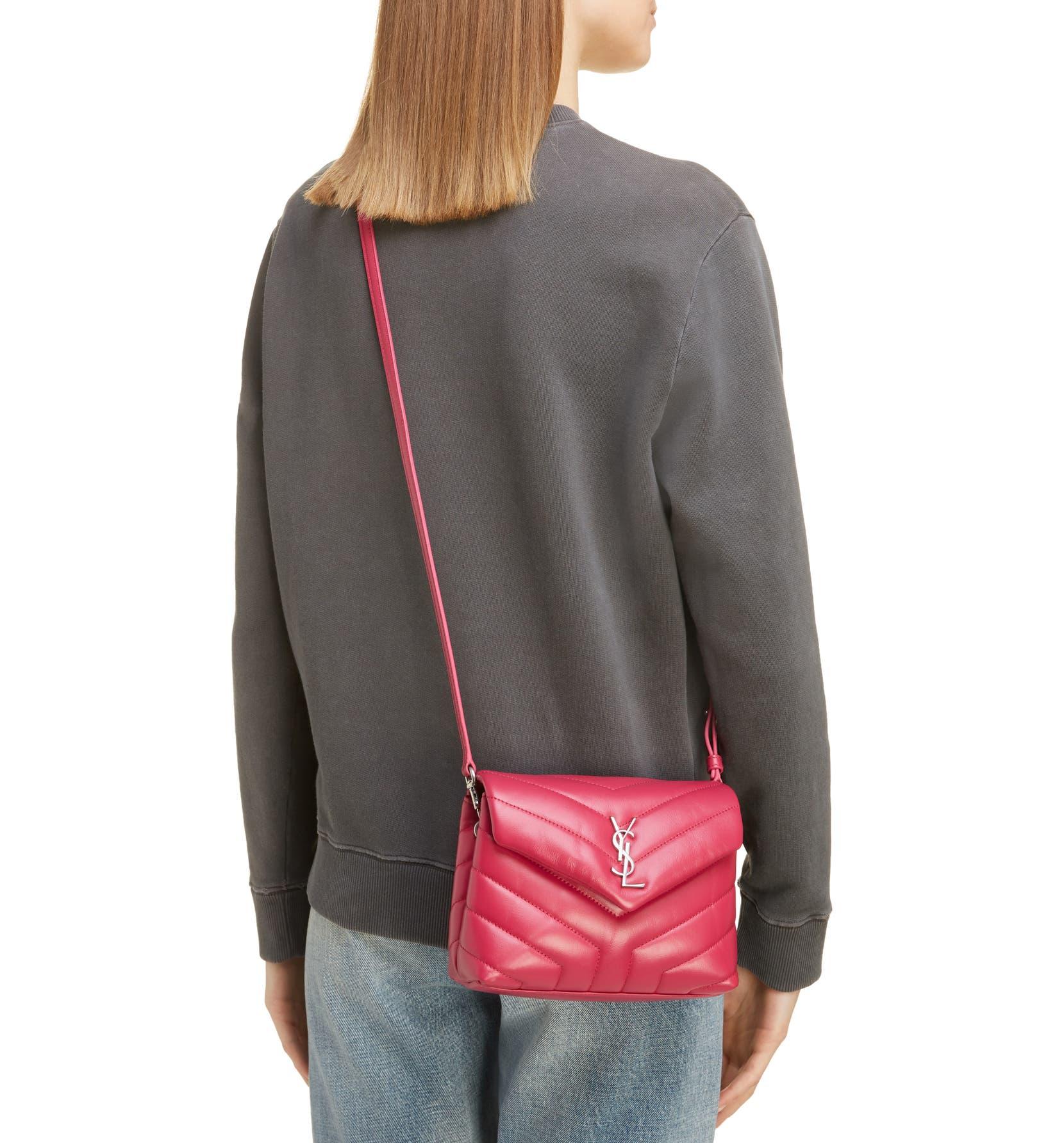 264558f0d7f Saint Laurent Toy Loulou Calfskin Leather Crossbody Bag | Nordstrom
