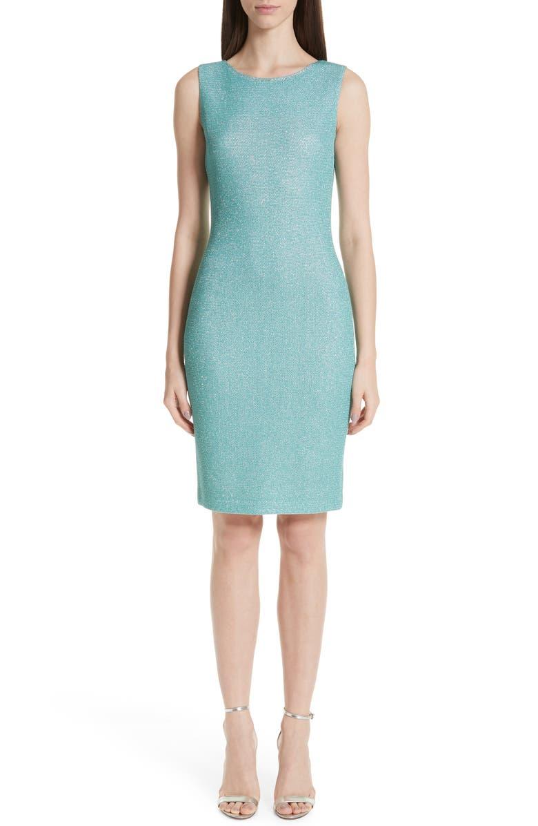 ST. JOHN COLLECTION Bailey Knit Sheath Dress, Main, color, 300