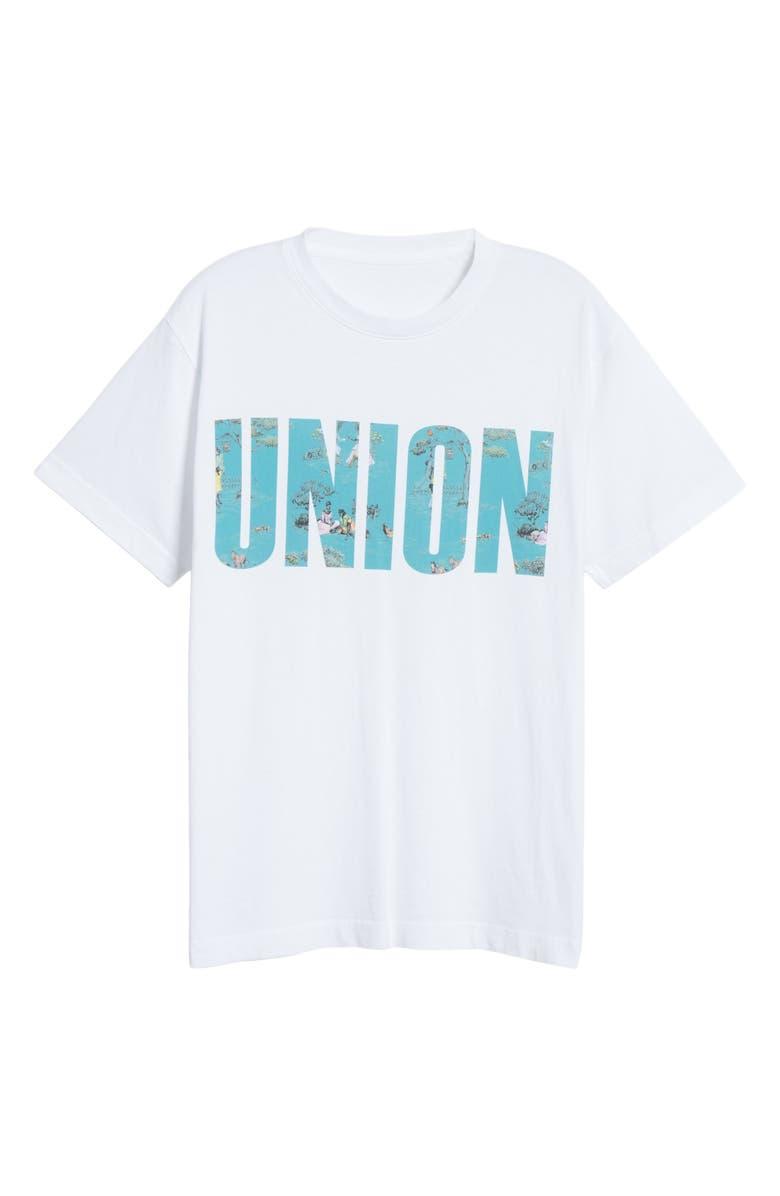 UNION PRINTABLES Sheila Bridges Harlem Toile T-Shirt, Main, color, WHITE