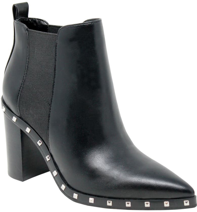 CHARLES BY CHARLES DAVID Duke Studded Chelsea Boot, Main, color, BLACK