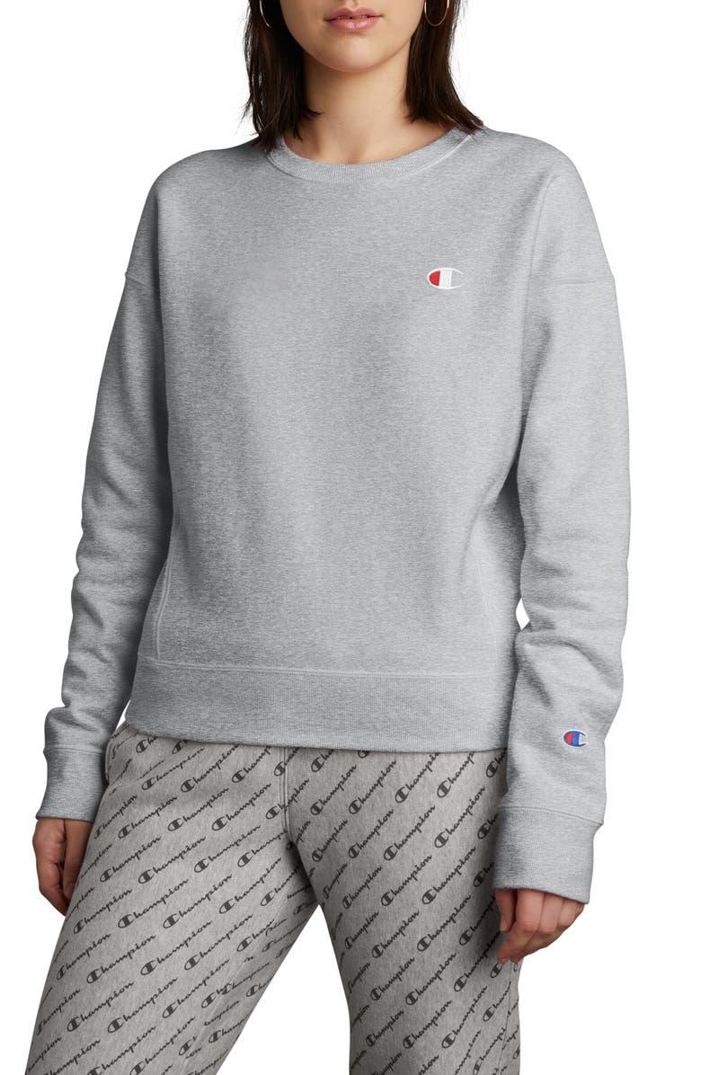 CHAMPION Reverse Weave Sweatshirt, Main, color, OXFORD GREY