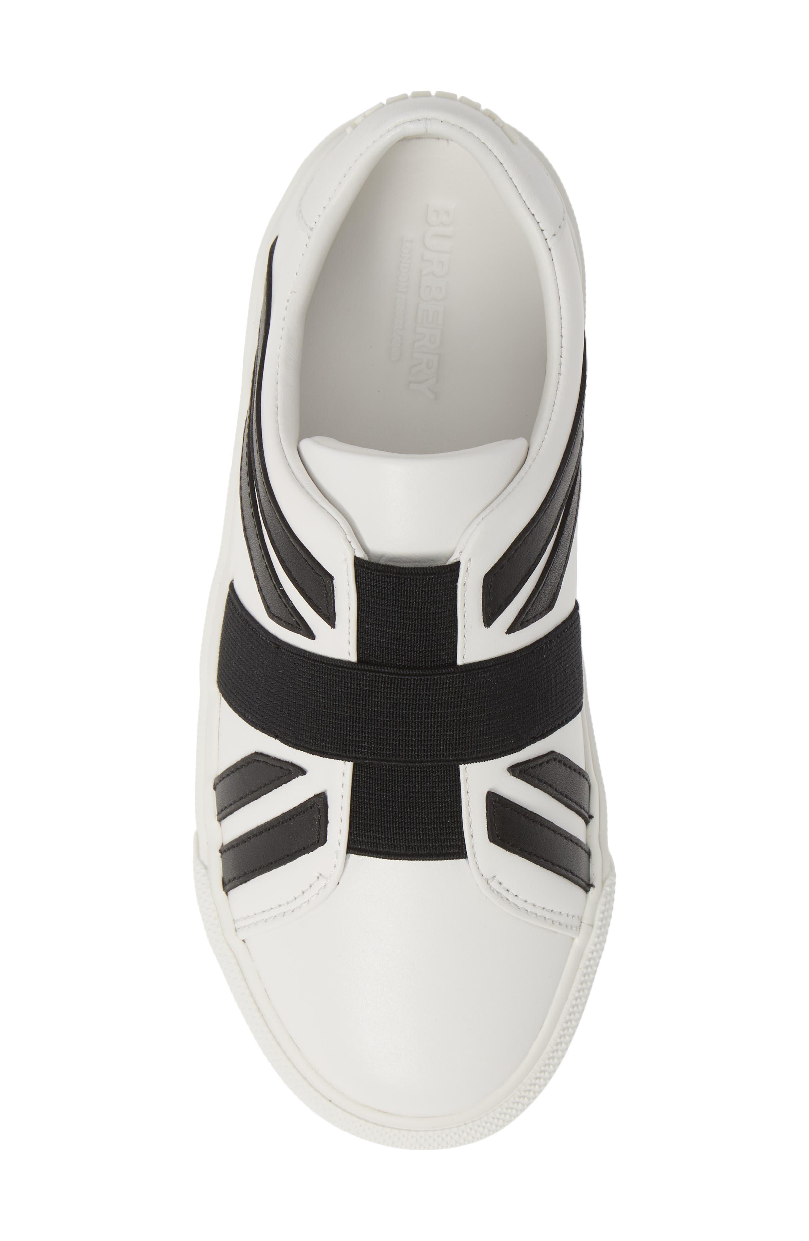 ,                             Cedbury Union Jack Sneaker,                             Alternate thumbnail 5, color,                             OPTIC WHITE/BLACK
