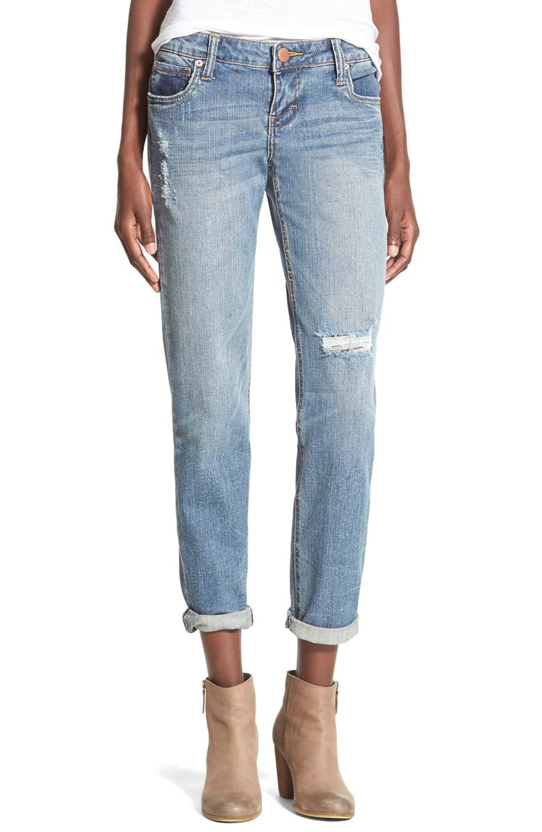 STS BLUE 'Joey' Cropped Boyfriend Jeans, Main, color, 400