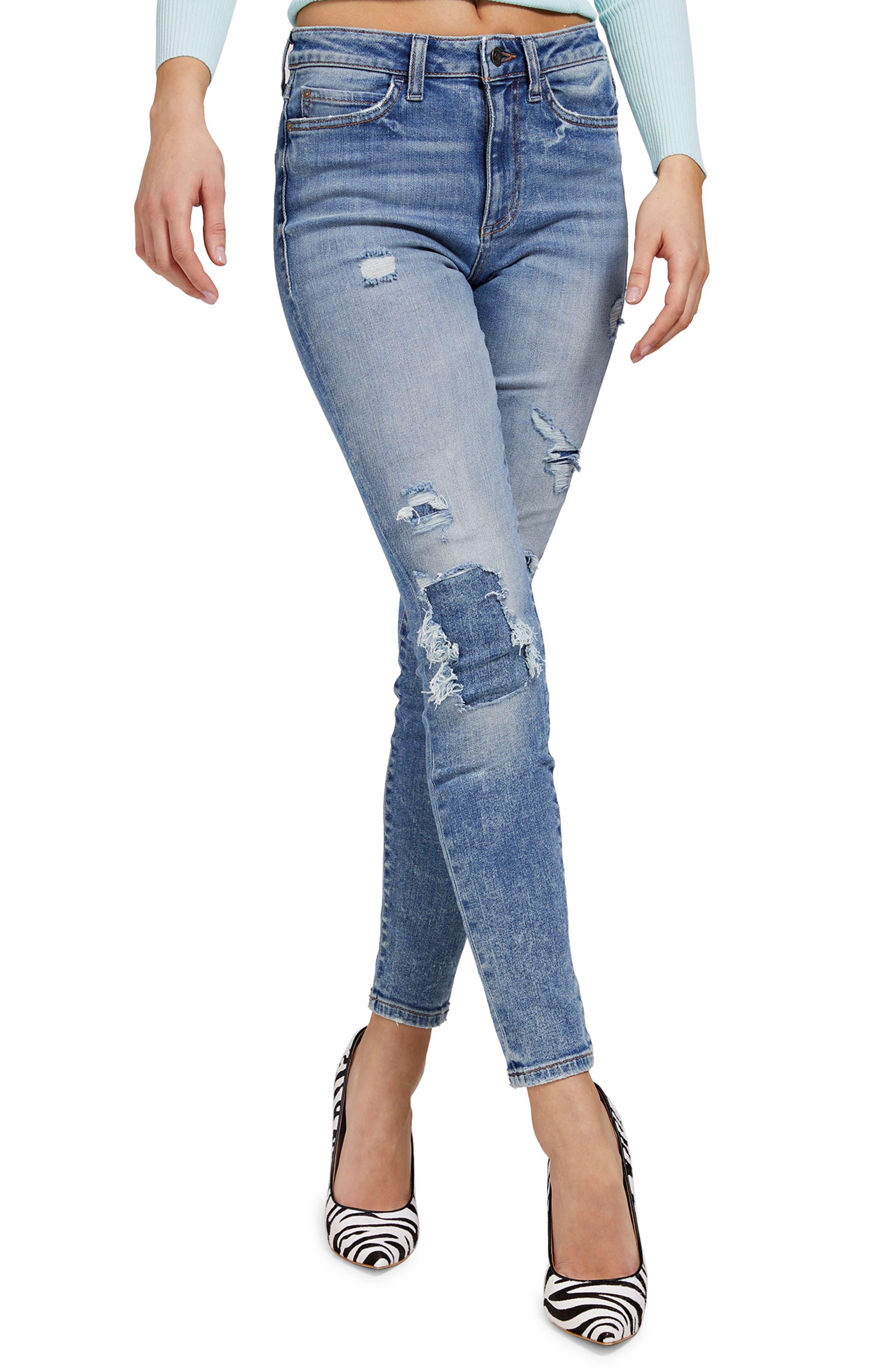 1981 Eco High Waist Distressed Skinny Jeans