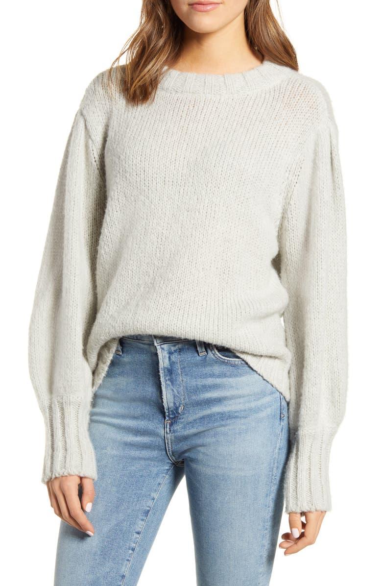 RAILS Sybil Sweater, Main, color, HEATHER GREY