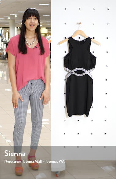 Embellished Infinity Waist Body-Con Dress, sales video thumbnail