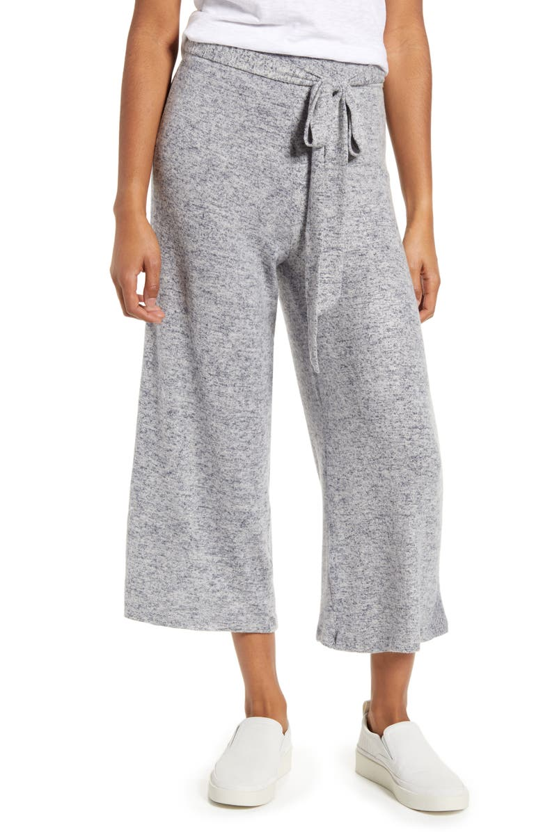 BOBEAU Doris Knit Crop Pants, Main, color, DEW/ NIGHTFALL