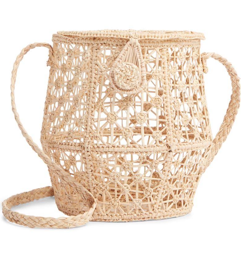 KAANAS Jerico Woven Bucket Crossbody Bag, Main, color, 250