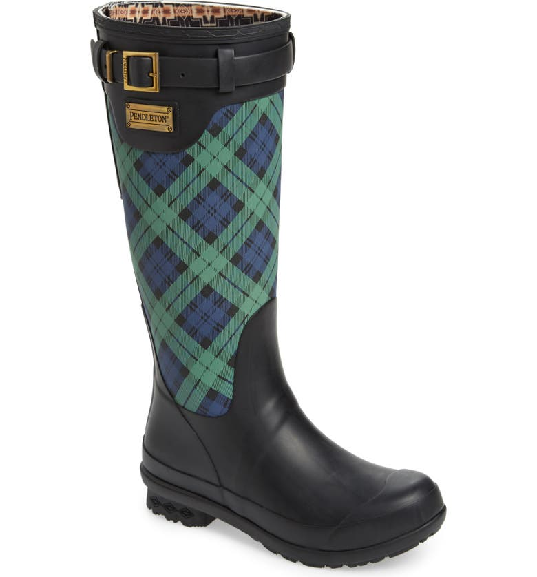 Pendleton Heritage Black Watch Tartan Tall Waterproof Boot Women