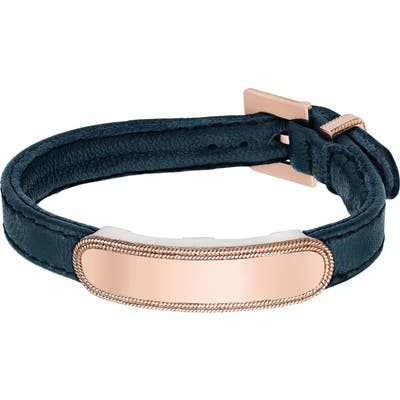 Anna Beck Leather Id Bracelet