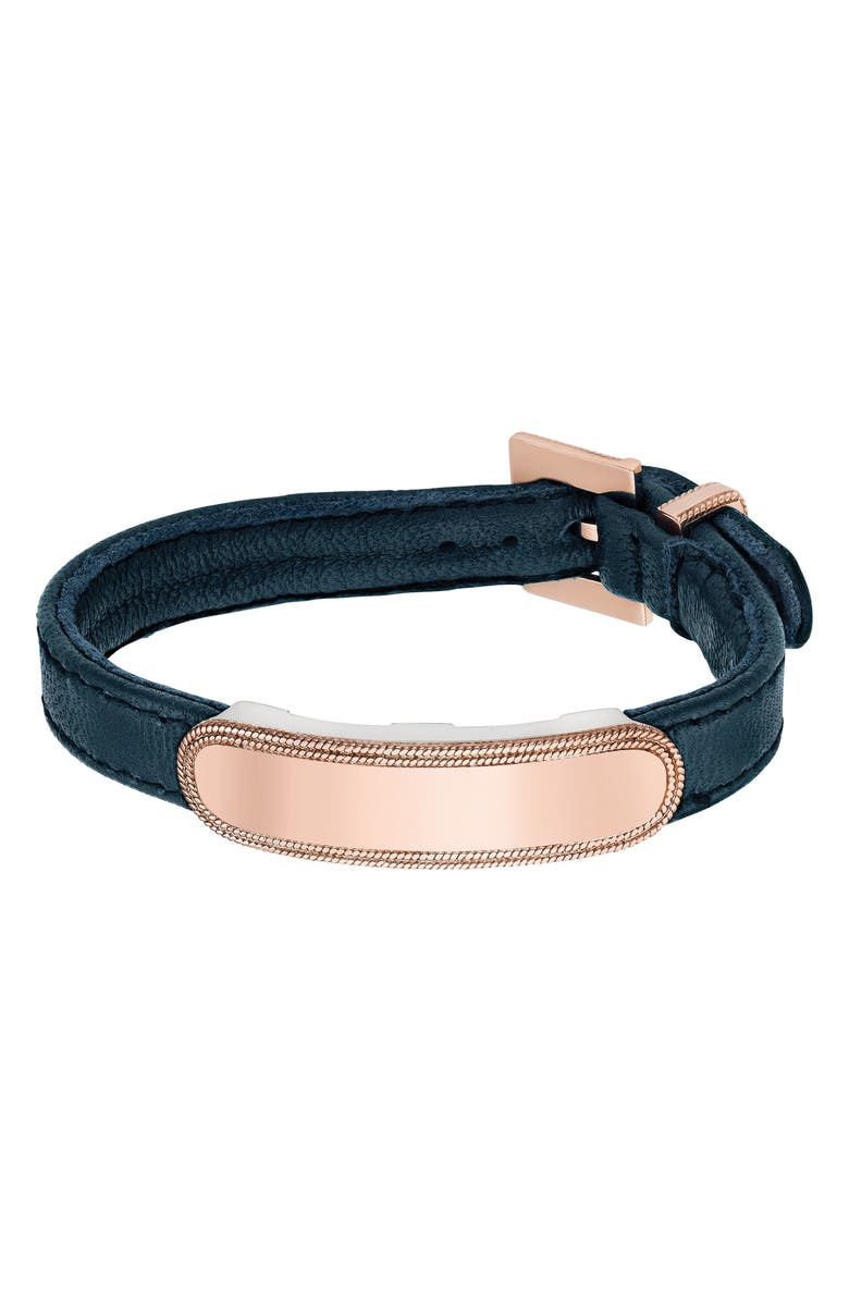 ANNA BECK Leather ID Bracelet, Main, color, 650