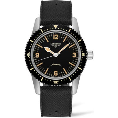 Longines Skin Diver Automatic Rubber Strap Watch, 42mm