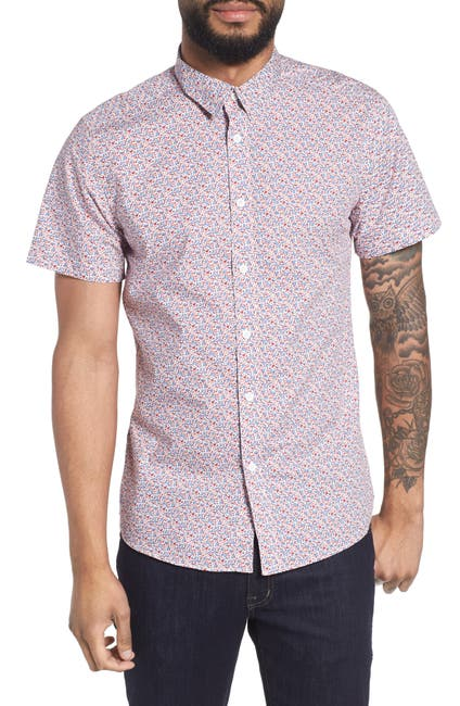 Image of TWENTYMETRICTONS Ditsy Floral Short Sleeve Tailored Fit Shirt