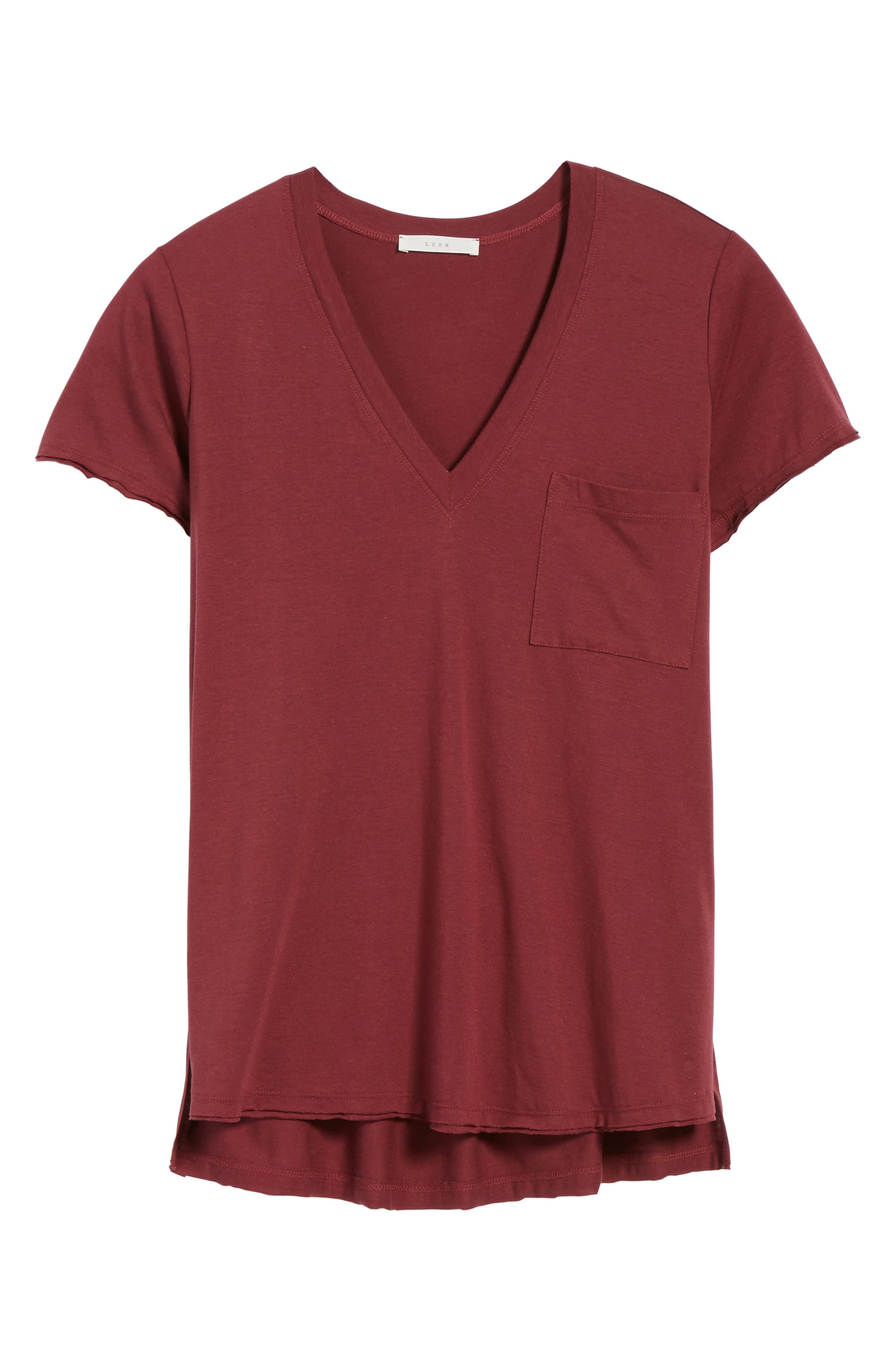 ,                             Raw Edge Side Slit Tee,                             Alternate thumbnail 47, color,                             930