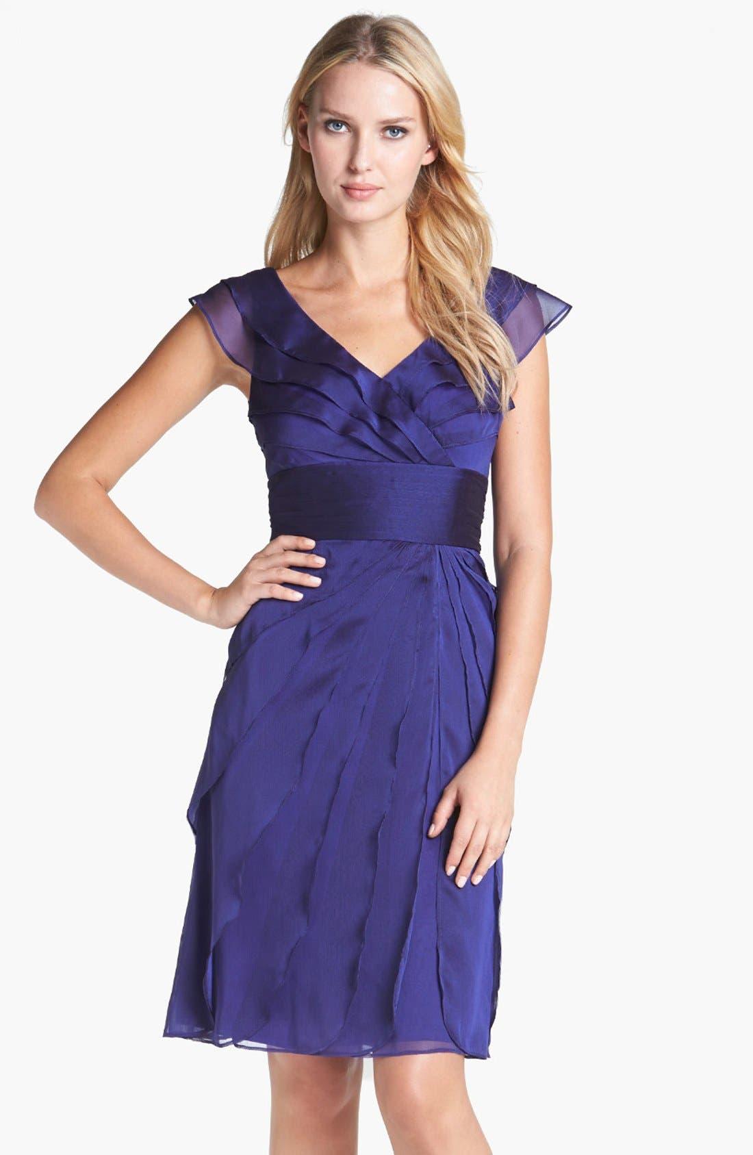 ,                             Tiered Chiffon Dress,                             Main thumbnail 30, color,                             450
