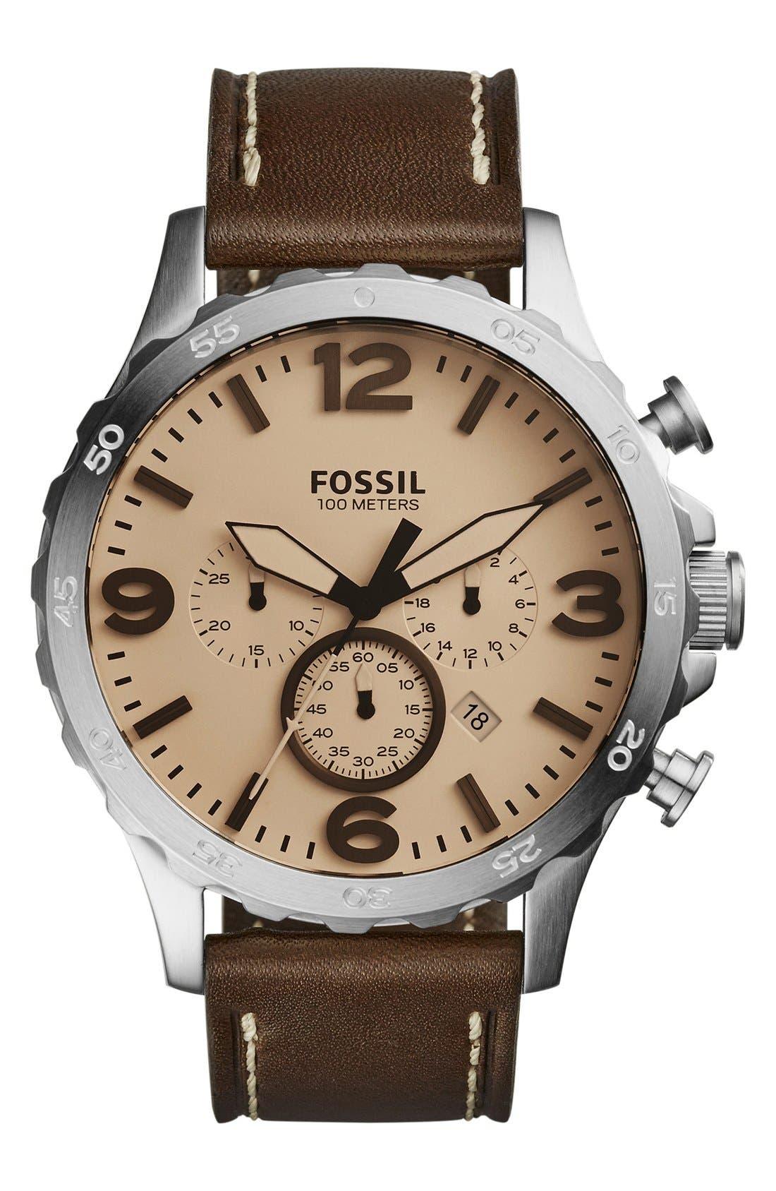 ,                             'Nate IP' Chronograph Watch, 50mm,                             Main thumbnail 31, color,                             205