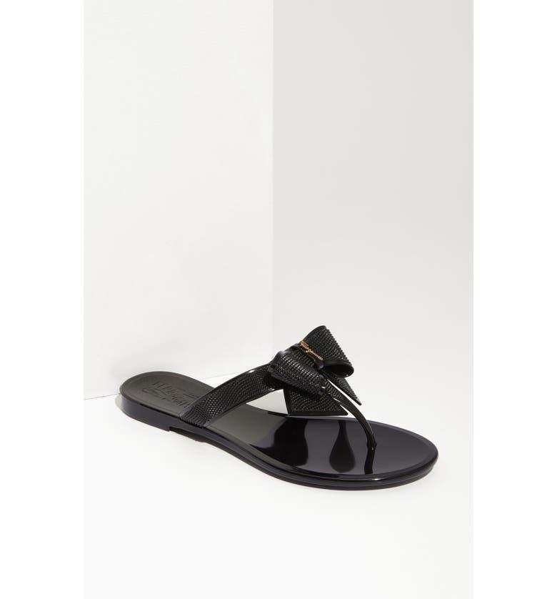 SALVATORE FERRAGAMO 'Bali' Sandal, Main, color, 001