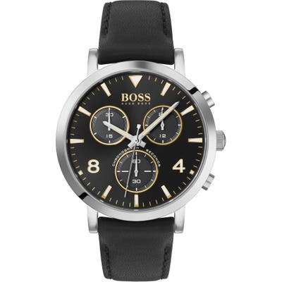 Boss Spirit Chronograph Leather Strap Watch, 41Mm