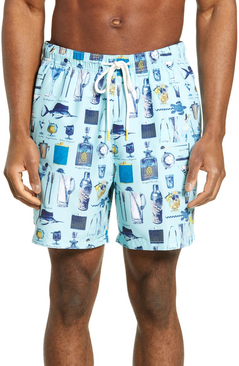 TOMMY BAHAMA Naples Well Stocked Swim Trunks, Main, color, SUMMER AQUA