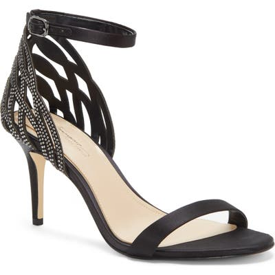 Imagine Vince Camuto Pharra Crystal Ankle Strap Sandal, Black