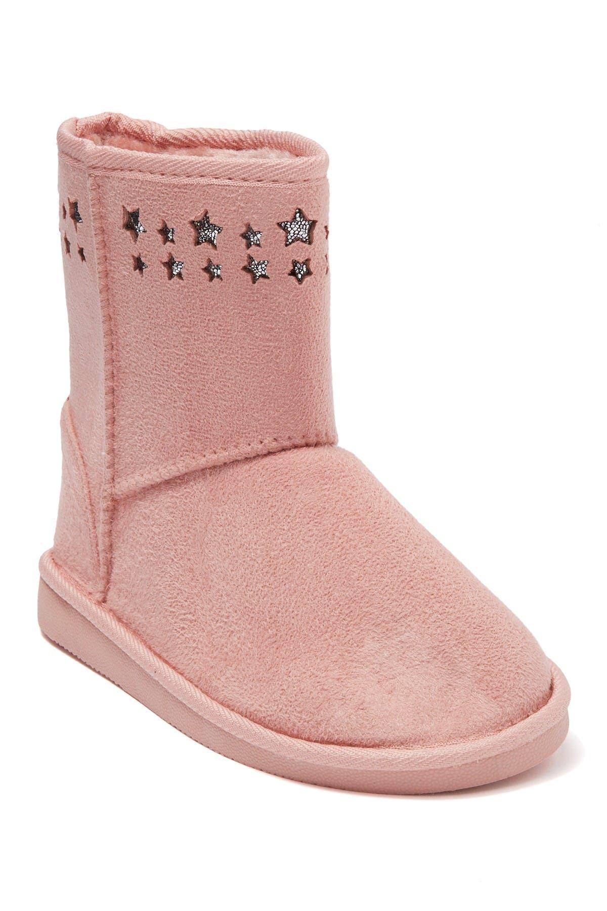 Bebe Star Faux Fur Lined Microsuede Winter Boot