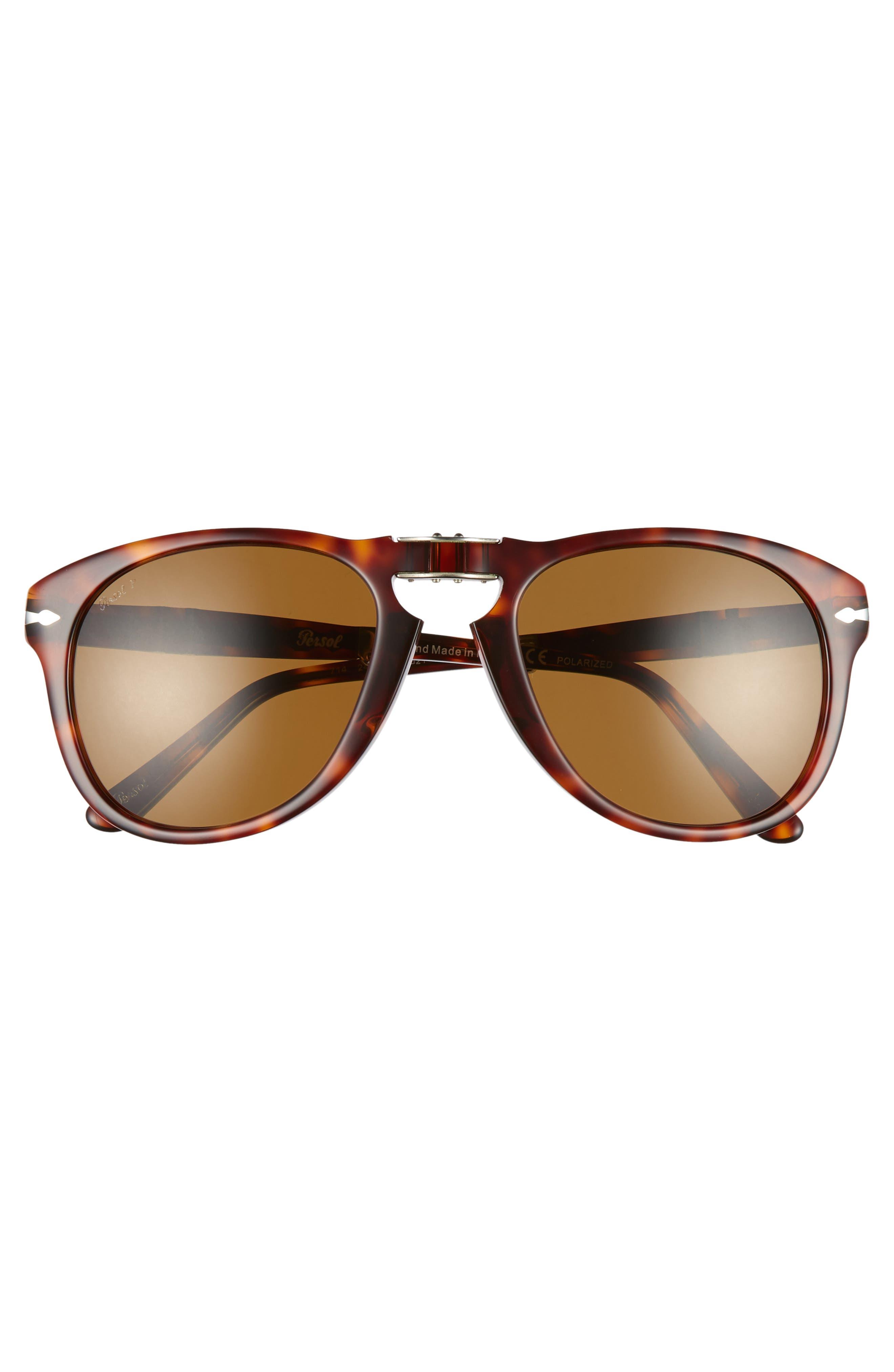 ,                             Folding Polarized Keyhole Sunglasses,                             Alternate thumbnail 3, color,                             BROWN