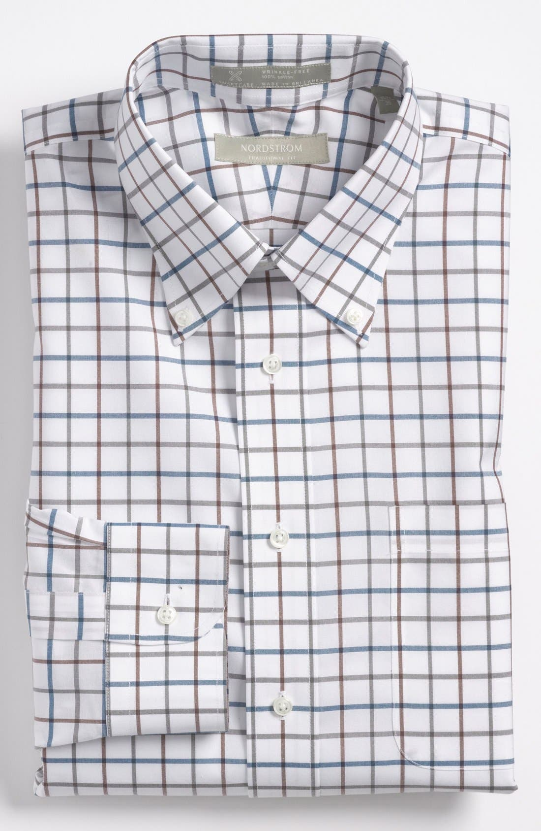 Nordstrom Smartcare<sup>™</sup> Traditional Fit Dress Shirt, Main, color, 900