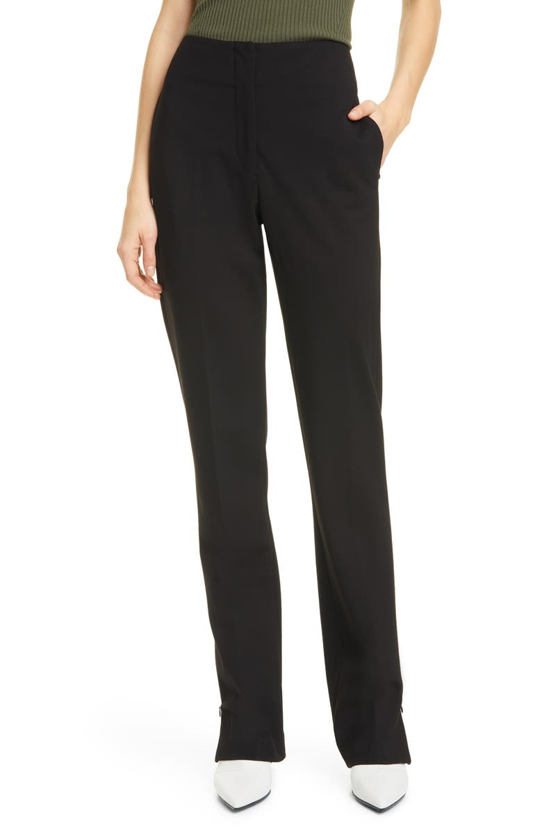 RAG & BONE Jess Zip Hem Pants, Main, color, 001
