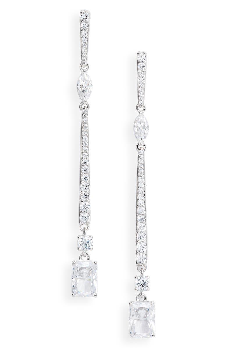 NADRI Rae Linear Earrings, Main, color, 040
