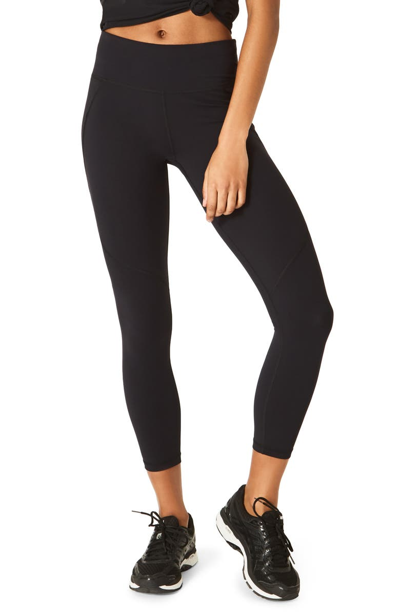 SWEATY BETTY Power 7/8 Technical Leggings, Main, color, BLACK