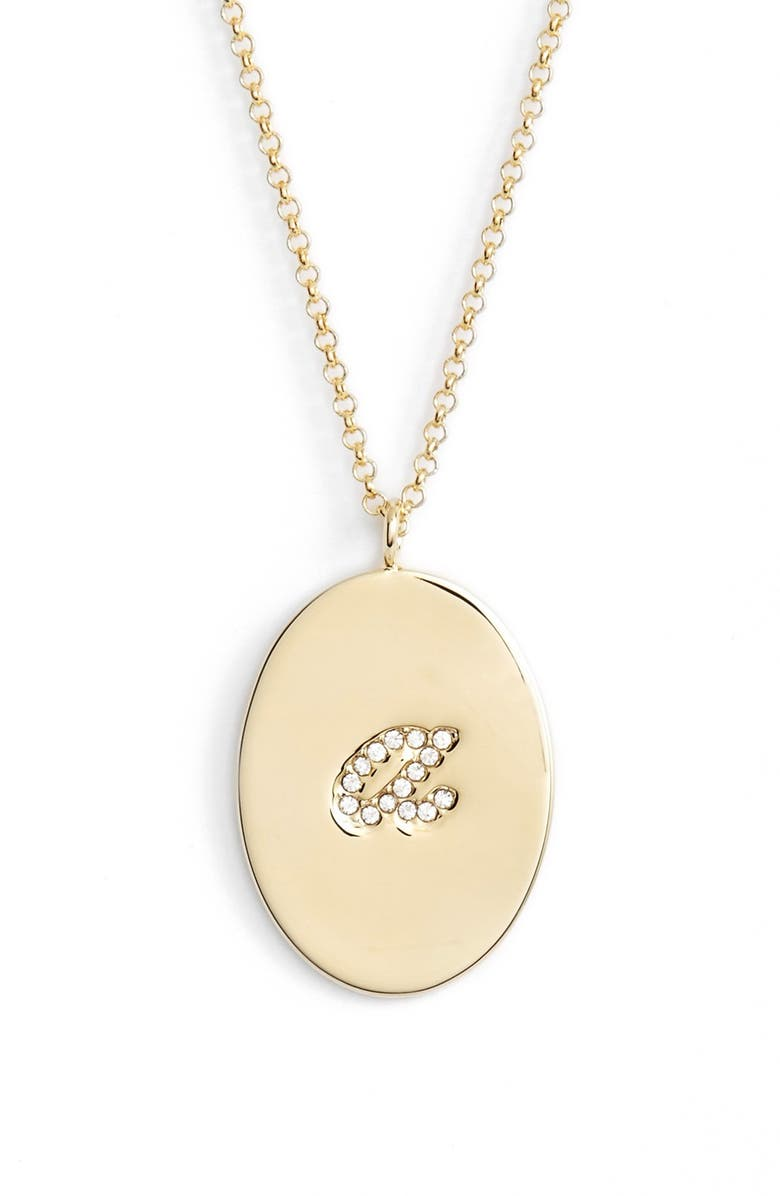 KATE SPADE NEW YORK 'initial thoughts' initial pendant necklace, Main, color, 710
