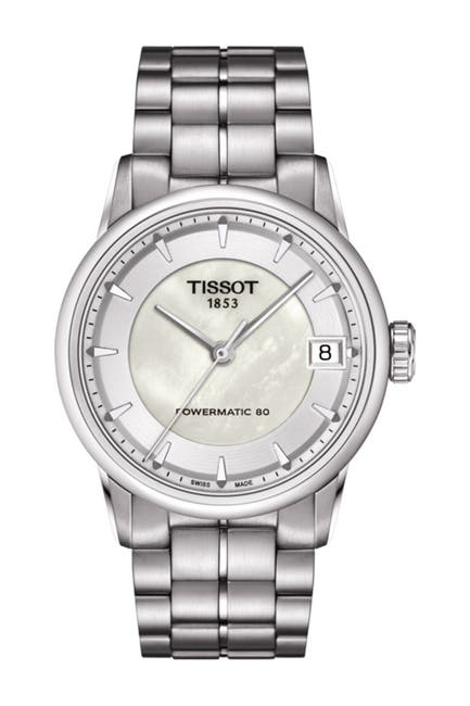 Image of Tissot Women's Luxury Powermatic 80 Bracelet Watch, 33mm