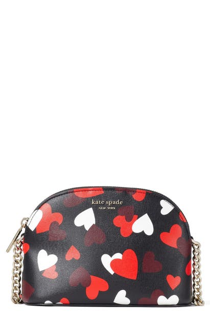 Kate Spade SPENCER CELEBRATION HEARTS SMALL LEATHER CROSSBODY BAG