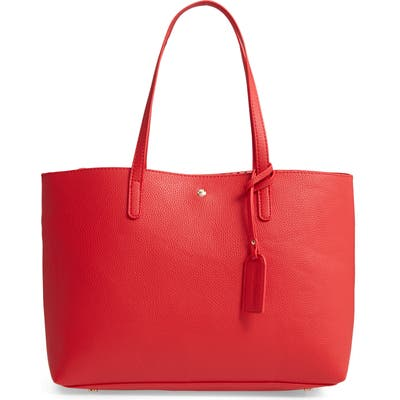 Sole Society Zeda Faux Leather Tote - Red