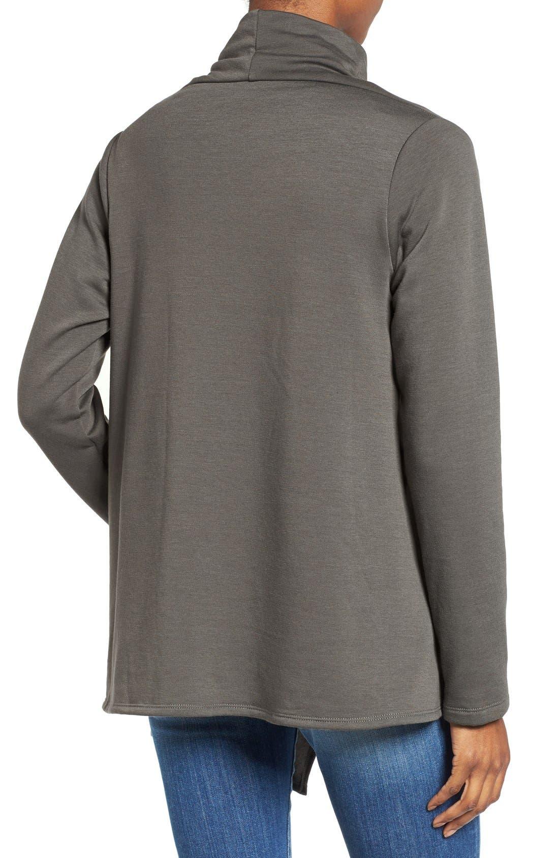 ,                             One-Button Fleece Wrap Cardigan,                             Alternate thumbnail 88, color,                             333