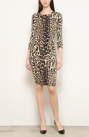 Leopard Print Body-Con Dress, video thumbnail