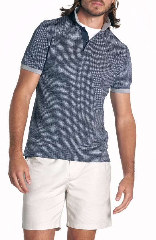 Rodd & Gunn Men's Broadway Street Birdseye Polo Shirt In Eclipse