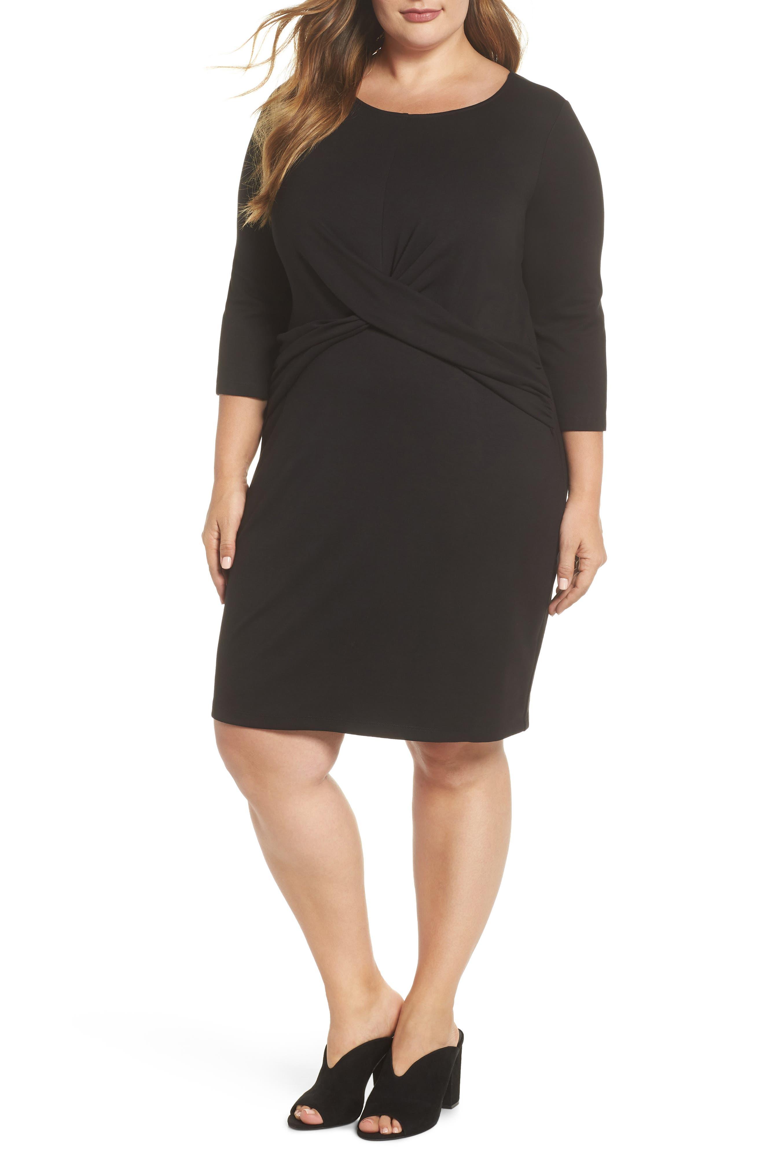 Plus Size Gibson Sheath Dress, Black