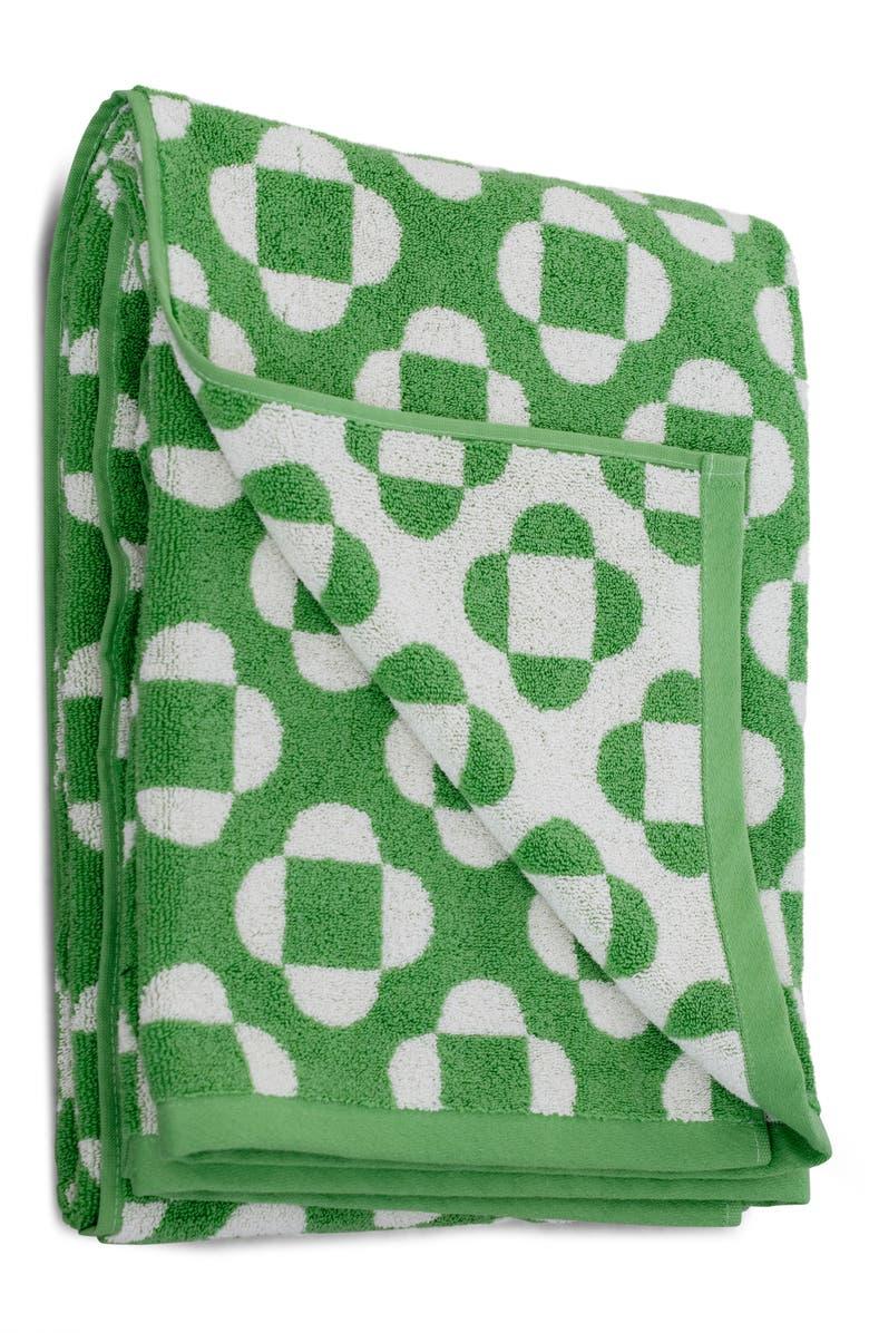DUSEN DUSEN Flower Hand Towel, Main, color, GREEN MULTI