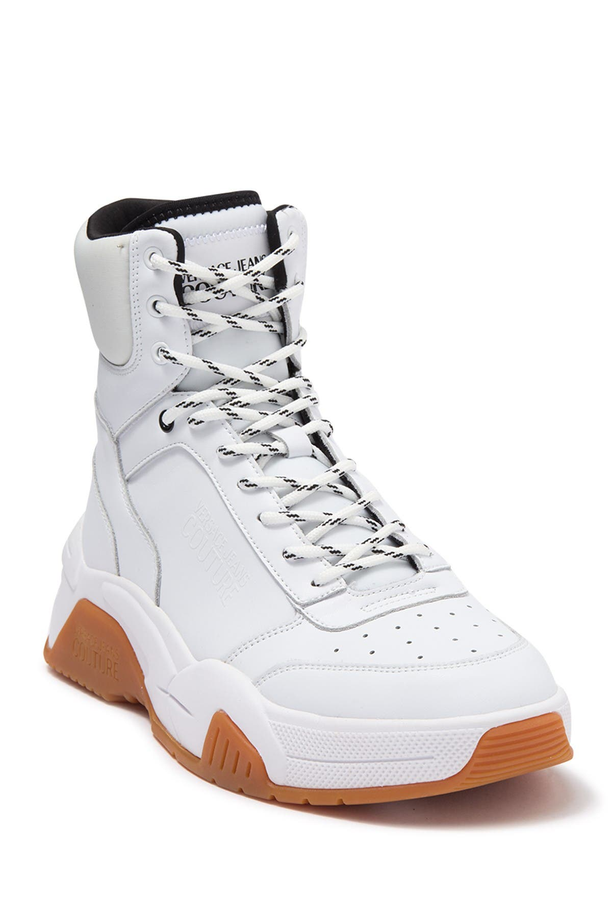High Top Exaggerated Sole Sneaker