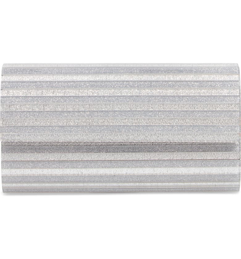 NORDSTROM Glitter Lucite<sup>®</sup> Bar Clutch, Main, color, 040