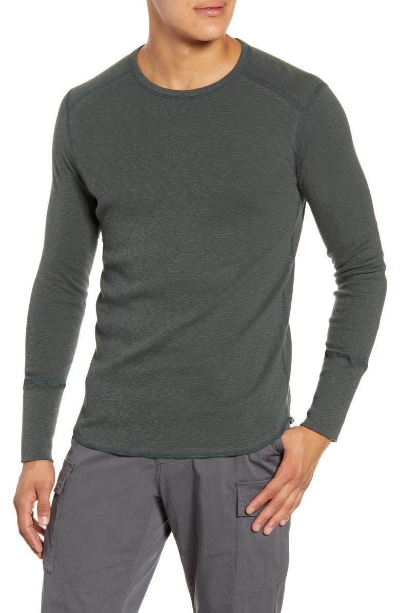 WINGS + HORNS Slub Crewneck Sweater, Main, color, PINE